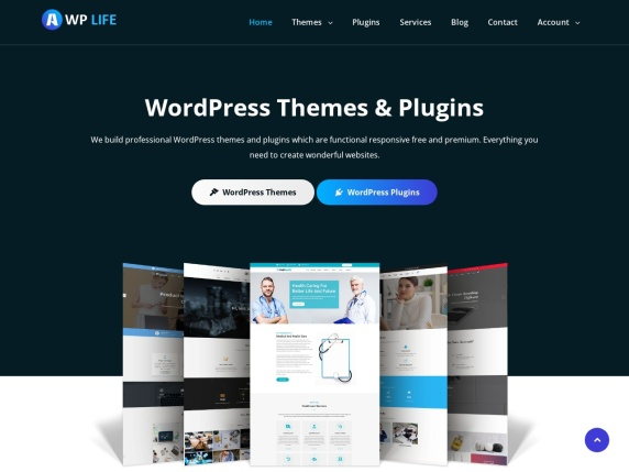 A WP Life homepage