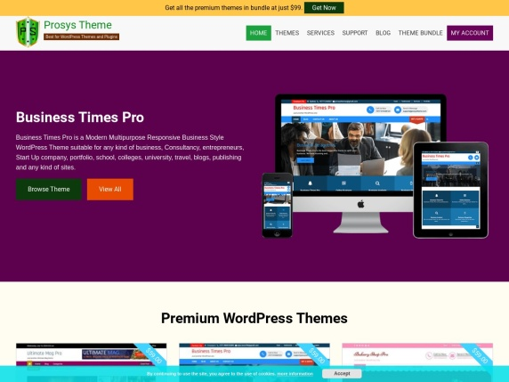Prosys Theme homepage