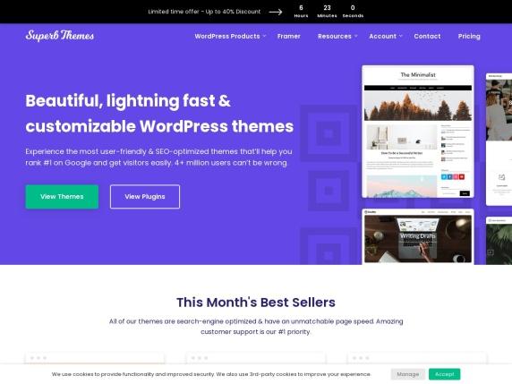 SuperbThemes homepage