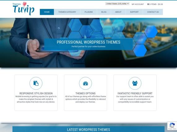 ThemesTulip homepage