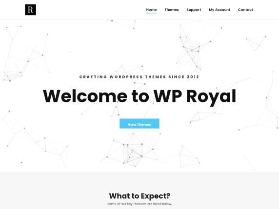 WP Royal homepage