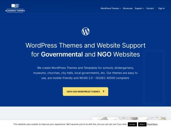 AcademiaThemes homepage
