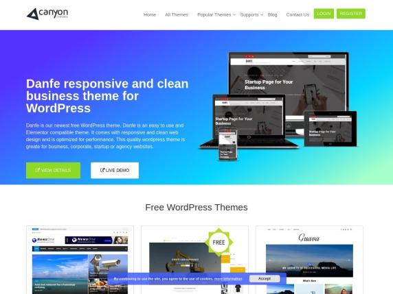 Canyon Themes homepage