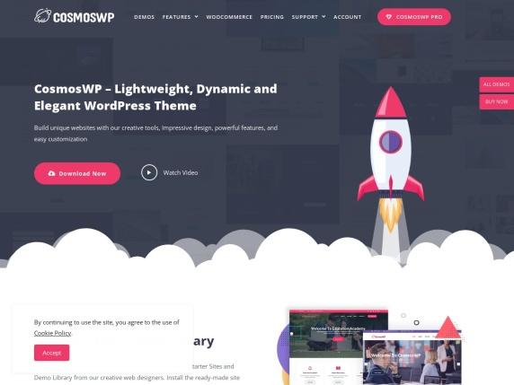 CosmosWP homepage