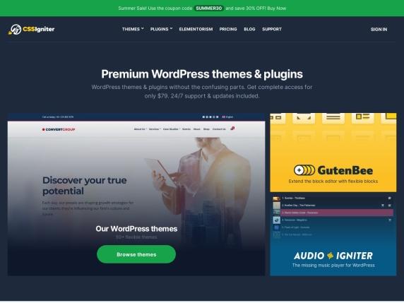 CSSIgniter homepage