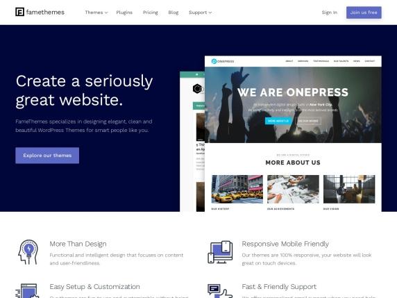 FameThemes homepage