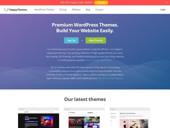 HappyThemes homepage