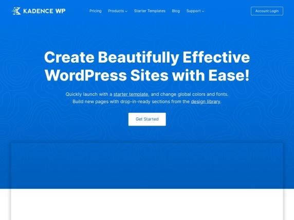 Kadence Themes homepage