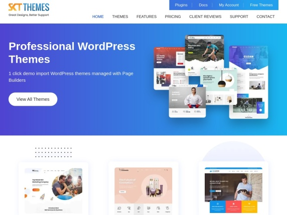 SKT Themes homepage