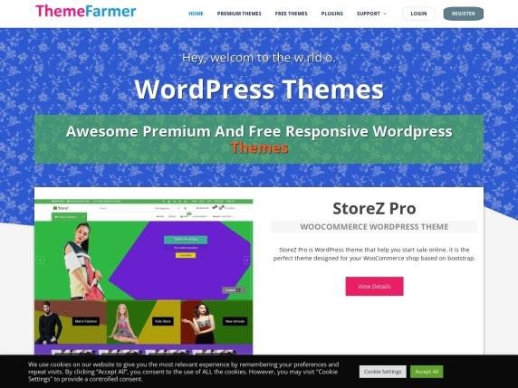 ThemeFarmer homepage
