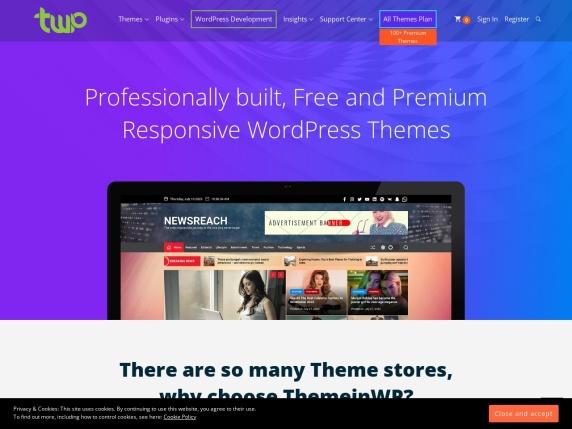 ThemeinWP homepage