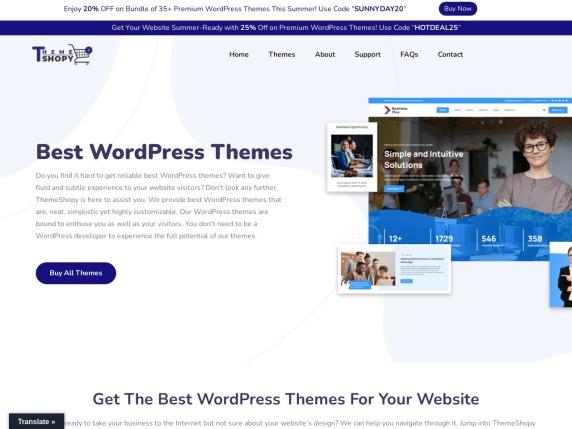 ThemeShopy homepage