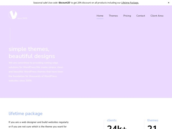ViVA Themes homepage
