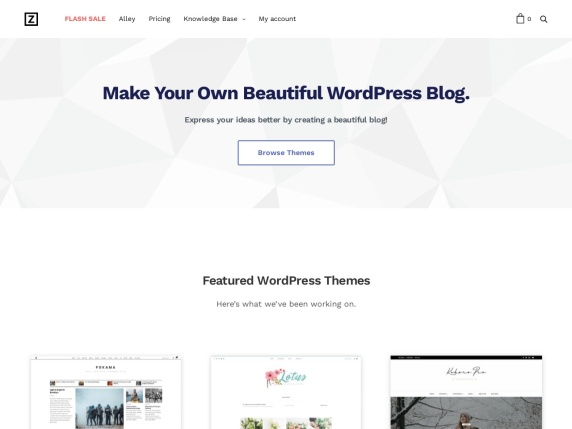 ZThemes homepage