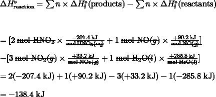 high specific heat capacity example