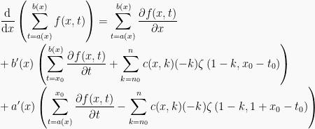 The derivative of summation rule   cyclochaotica