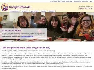 bringmirbio Webseite