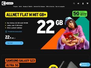 congstar Webseite
