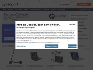 cyberport Webseite