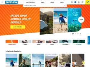 decathlon Webseite