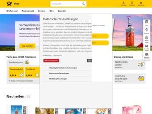 deutsche-post-efiliale Webseite