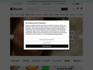 flaconi Webseite