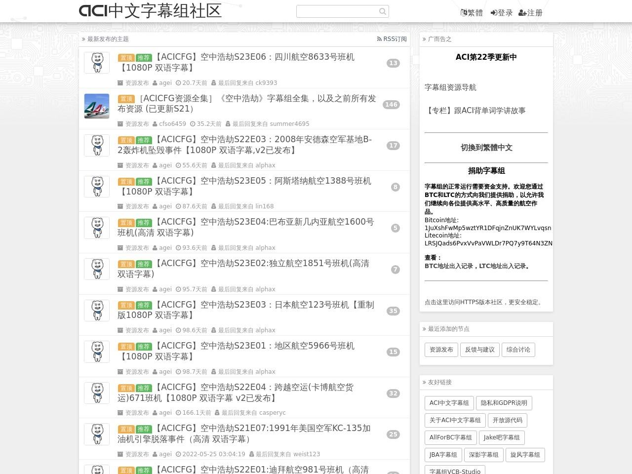 ACI中文字幕组社区 - ATOM Feed