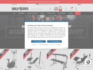 gorillasports Webseite
