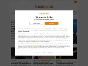 handelsblatt Webseite