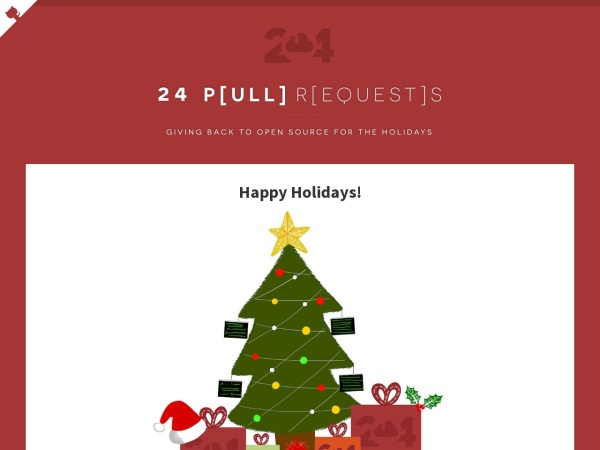 Screenshot of 24pullrequests.com
