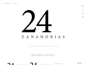 24 Zanahorias using the Libre WordPress Theme