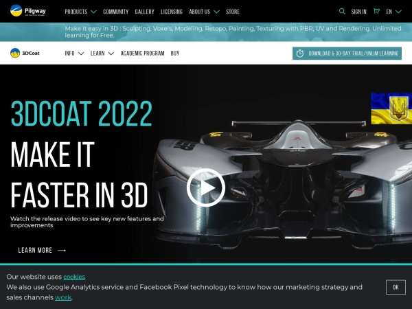 Screenshot of 3d-coat.com