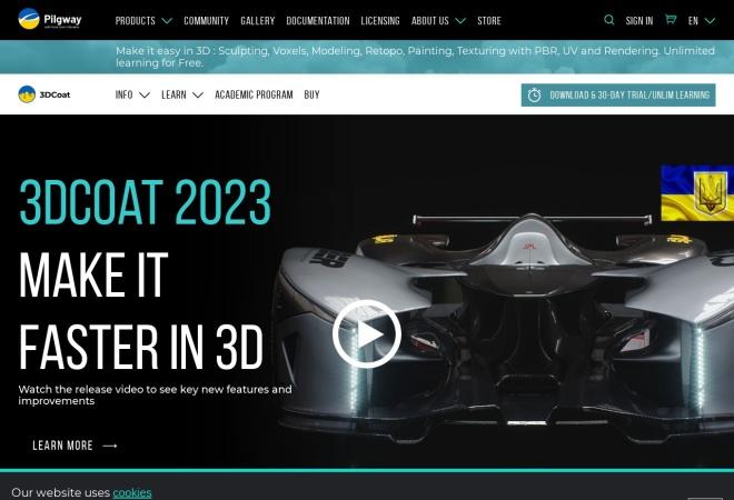 Screenshot of 3d-coat.com
