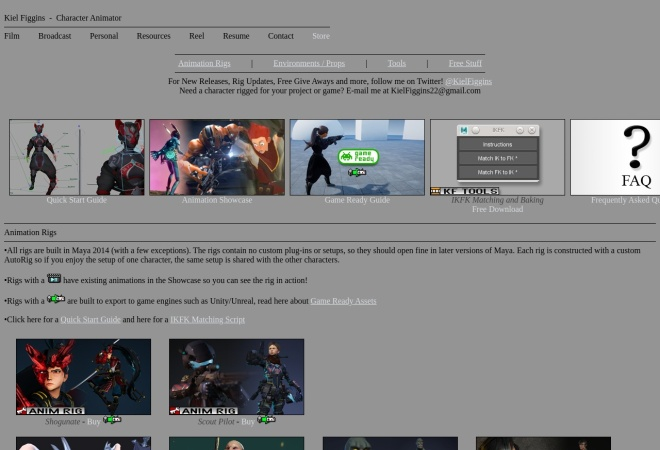 Screenshot of 3dfiggins.com