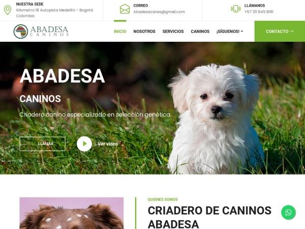 Captura de pantalla de abadesacaninos.com