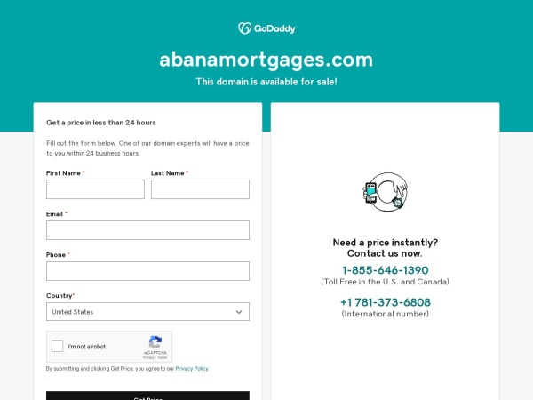 Screenshot of abanamortgages.com