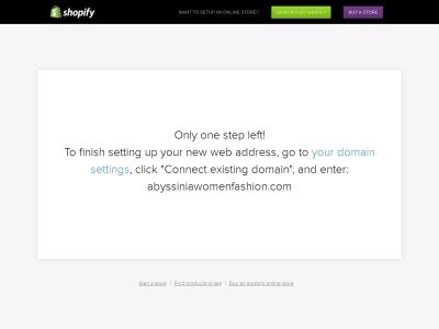 Screenshot of abyssiniawomenfashion.com