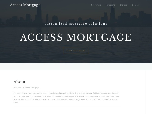 Screenshot of accessyourmortgage.ca