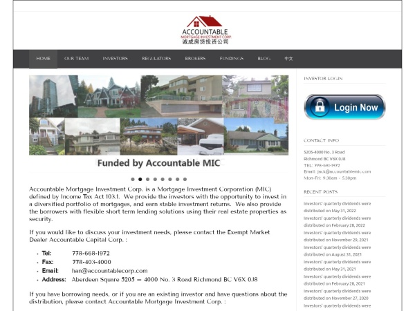 Screenshot of accountablemic.com