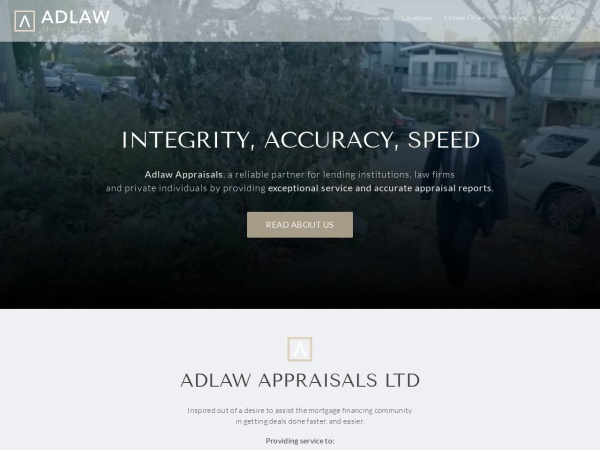 Screenshot of adlawappraisals.com