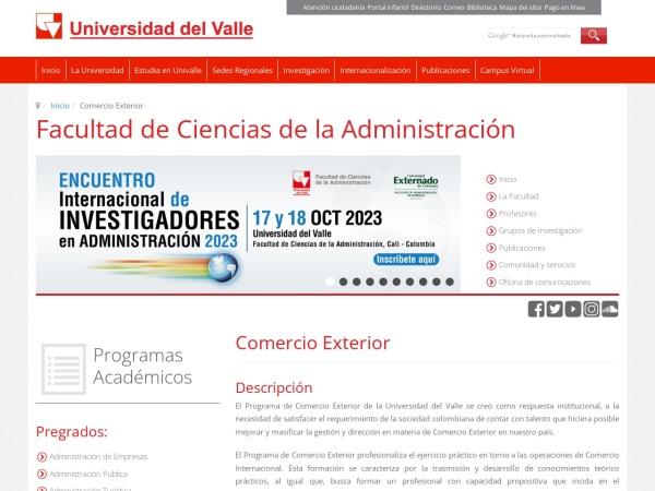 Captura de pantalla de administracion.univalle.edu.co