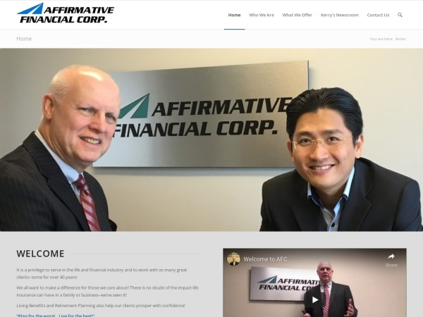 Screenshot of affirmativefinancial.ca