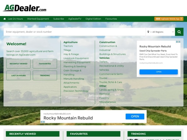 Screenshot of agdealer.com