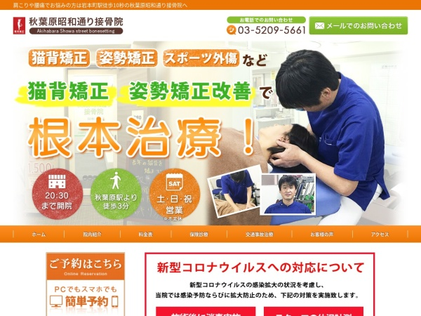 Screenshot of akiba-chiro.com