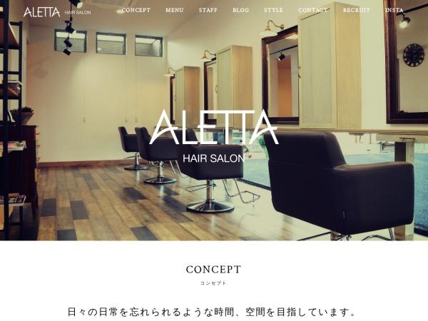 Screenshot of aletta2017.com