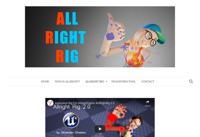 Screenshot of alexallright.com