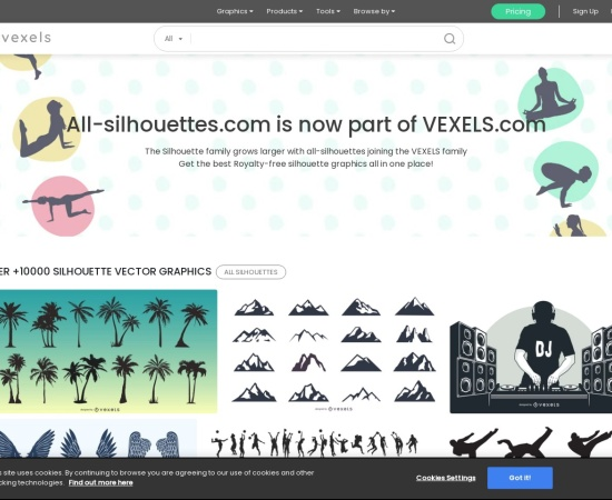 Screenshot of all-silhouettes.com
