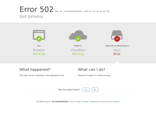Screenshot of allcanadianmtg.ca