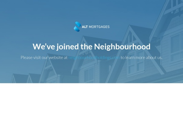 Screenshot of altmortgages.ca