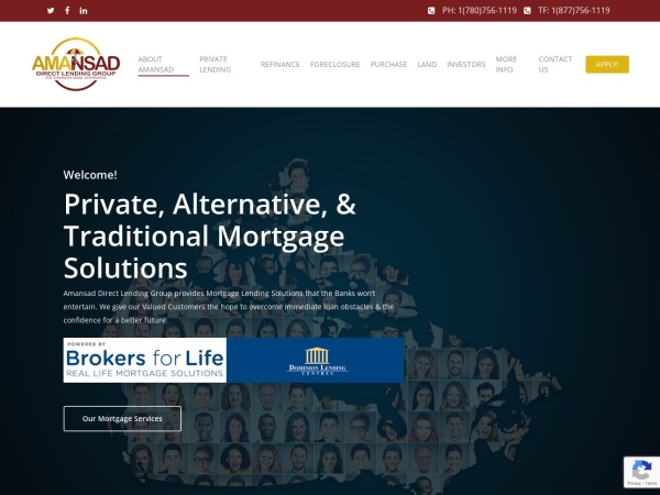 Screenshot of amansadfinancial.com